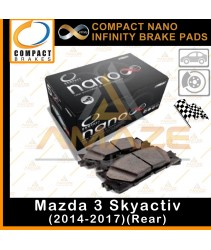 Compact Nano Infinity Brake Pad for Mazda 3 Skyactiv (14-17)(Rear)