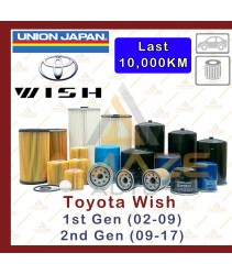 Union Japan Oil Filter for Toyota Wish (OEM : 90915-YZZE1, 90915-YZZE2, 04152-YZZA6)