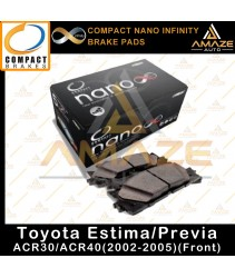 Compact Nano Infinity Brake Pad for Toyota Estima/Previa 2nd Gen ACR30/ACR40 (02-05)(Front)