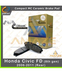 Compact MC Ceramic Brake Pad for Honda Civic I-VTEC FD (2006-2011) (Rear)