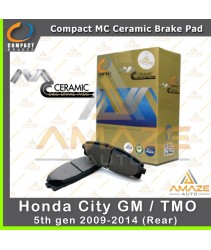 Compact MC Ceramic Brake Pad for Honda City GM / TMO 5th Gen (09-14) (Rear)
