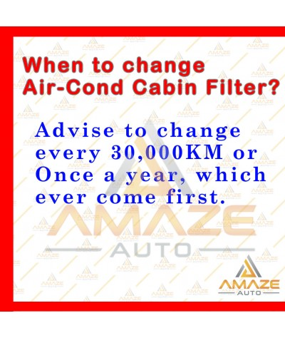 Air-Cond Cabin Filter for Perodua Viva (2007-2014) (Equals to OEM: 17801-87111)