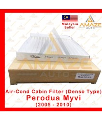 Air-Cond Cabin Filter (Denso Type) for Perodua Myvi (2005-2010) (Equals to OEM: 17801-87333)