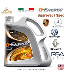 G-Energy F Synth 5W40 Fully-Synthetic Engine Oil (4L) SN/CF (Made in Italy) / Minyak Pelincir Enjin 5W40