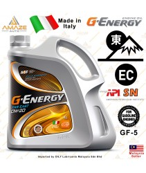 G-Energy Far East 0W20 Fully-Synthetic Engine Oil (4L) SN (Made in Italy) - Energy Conserving / Minyak Pelincir Enjin 0W20