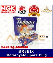 NGK Iridium IX Spark Plug BR8EIX - Last 15,000KM (Yamaha RXZ, Y125Z, Kawasaki Ninja, Honda NSR)
