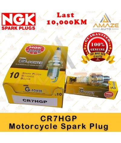 NGK G-Power Platinum Spark Plug CR7HGP - Last 10,000KM (Honda EX5, Wave, C70, Yamaha Ego S115, Lagenda, Mdenas Kriss, Suzuki Shogun, Smash)