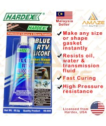 Hardex Blue RTV Silicone Gasket Maker (85.2g) - Pembuat Gasket warna Biru, tahan suhu tinggi