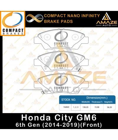 Compact Nano Infinity Brake Pad for Honda City GM6 (2014 - 2019) (Front)