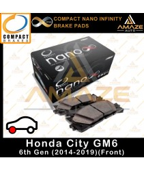 Compact Nano Infinity Brake Pad for Honda City GM6 (2014 - 2019) (Front)