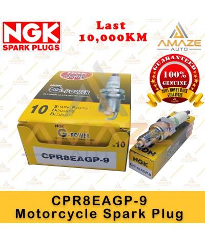 NGK G-Power Platinum Spark Plug CPR8EAGP-9 - Last 10,000KM (Honda CBR 500, Icon, Modenas NS150, Yamaha 135LC, NMAX)