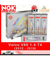 NGK Laser Iridium Spark Plug for Volvo V60 1.6 T4 (2012-2018) - Longest Usage life and high performance