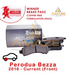 Musashi Winner Brake Pad (Copper Free NAO) for Perodua Bezza (2016-Current) (Front)