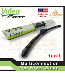 "Valeo First Multiconnection Flat Wiper blade size 14""/16""/17""/18""/19""/20""/21""/22""/24""/26""/28"" (Single Blade)"