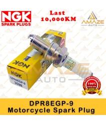NGK G-Power Platinum Spark Plug DPR8EGP-9 - Last 10,000KM (Yamaha XVS Drag Star, Naza GTR, Honda Gold Wing, Cagiva Elefant, Nimota CK9)
