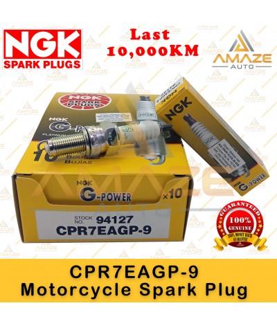 NGK G-Power Platinum Spark Plug CPR7EAGP-9 - Last 10,000KM (Honda Airblade, Future, PCX, Wave, Dash, Alpha) )