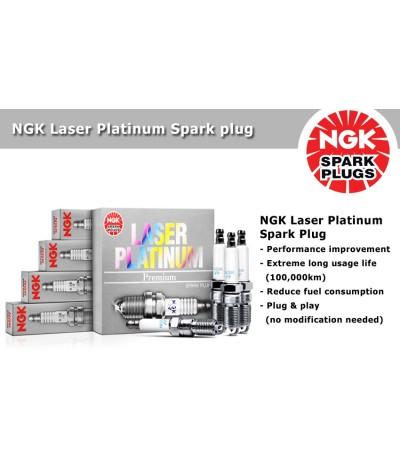 NGK Laser Platinum Spark Plug for Volkswagen Polo / Vento 1.2 TSI MK5 Facelift (Aug 2014-Current) (4pcs/set)