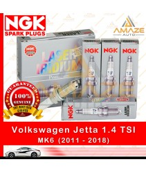 NGK Laser Iridium Spark Plug for Volkswagen Jetta 1.4 TSI MK6 (2011-2018) - Longest Usage life and high performance