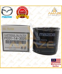 Genuine Mazda Oil Filter (PE01-14-302B) for Mazda Skyactiv Model (Mazda 2, Mazda 3, Mazda 6, Biante, CX-3, CX-5)