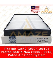 Air-Cond Cabin Filter for Proton Gen 2 (04-12) & Satria Neo (06-15) - Patco Air Cond System