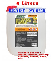 HARDEX ALL PURPOSE DISINFECTANT SOLUTION [LEMON FRAGRANCE] KILLS 99% BACTERIA 5L / 20L - Alcohol Free and non flammable
