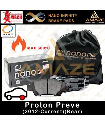 Compact Nano Infinity Brake Pad for Proton Preve (Rear) - Amaze Autoparts