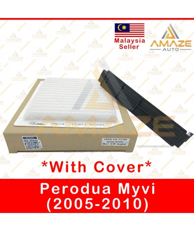 Air-Cond Cabin Filter (Denso Type) with cover for Perodua Myvi (2005-2010) (Equals to OEM: 17801-87333)