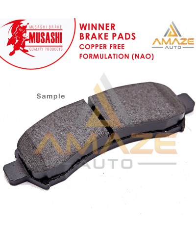 Musashi Winner Brake Pad (Copper Free NAO) for Mitsubishi Attrage (2012-2017) (Front)