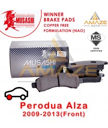 Musashi Winner Brake Pad (Copper Free NAO) for Perodua Alza (2009 - 2013) (Front)