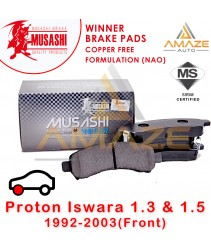 Musashi Winner Brake Pad (Copper Free NAO) for Proton Iswara 1.3 & 1.5 (Front)
