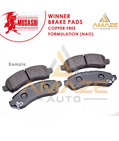 Musashi Winner Brake Pad (Copper Free NAO) for Proton Satria 1.6 & 1.8 GTi (1994-2006) (Front)