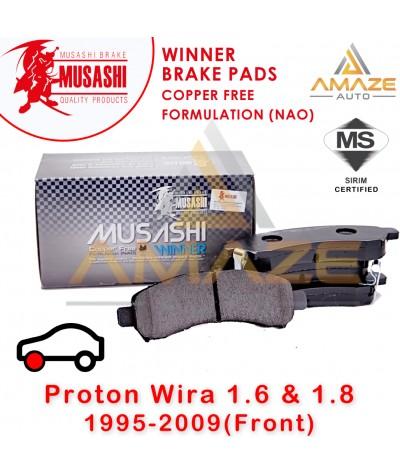 Musashi Winner Brake Pad (Copper Free NAO) for Proton Wira 1.6 & 1.8 (Front)