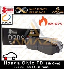 Musashi Nano Infinity Brake Pad for Honda Civic I-VTEC FD (2006-2011) (8th Gen) (Front)