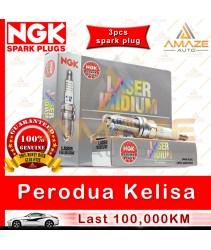 NGK Laser Iridium Spark Plug for Perodua Kelisa 1.0 - Longest Usage life and high performance