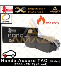 Musashi Nano Infinity Brake Pad for Honda Accord 8th Gen TAO (2008 - 2012) (Front)