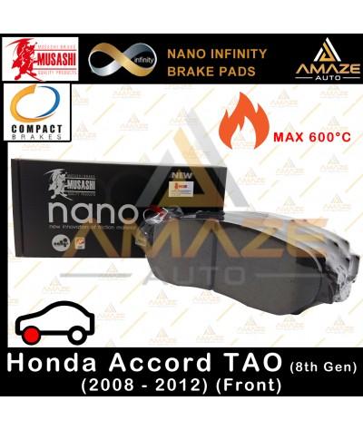 Musashi Nano Infinity Brake Pad for Honda Accord 8th Gen TAO (2008 - 2012) (Front)