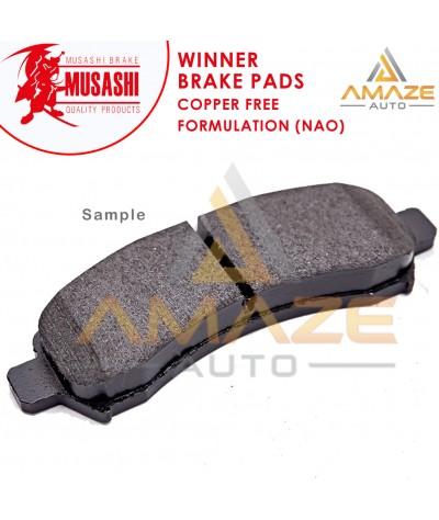 Musashi Winner Brake Pad (Copper Free NAO) for Toyota Avanza (2003-2015) (Front)
