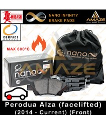 Compact Nano Infinity Brake Pad for Perodua Alza (2014-Current) (Front) - Amaze Autoparts