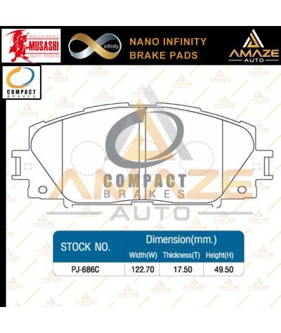 Compact Nano Infinity Brake Pad for Perodua Alza (2014-Current) (Front) - Amaze Autoparts