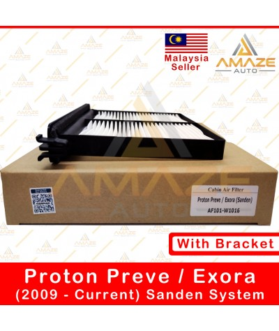Air-Cond Cabin Filter with bracket for Proton Preve (2012-2018) & Exora (2006-Current) (Sanden System)