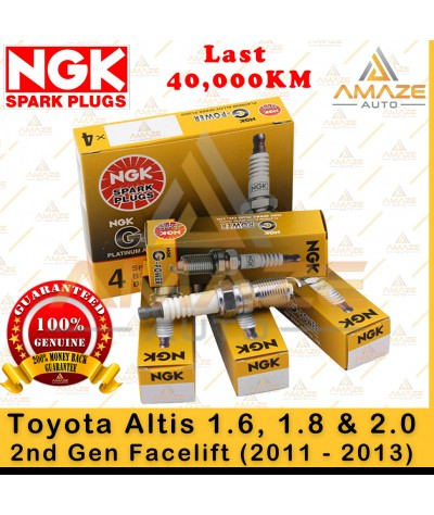 NGK G-Power Platinum Spark Plug for Toyota Altis 1.6, 1.8 & 2.0 -2nd Gen Facelift (2011-2013) - 40,000KM Platinum Spark Plug