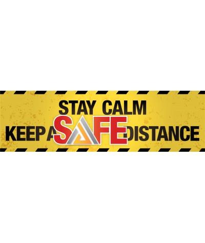 """Stay Calm Keep a Safe Distance"" sticker (1pcs) - Amaze Autoparts"
