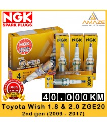 NGK G-Power Platinum Spark Plug for Toyota Wish 1.8 & 2.0 ZGE20 (2009 - 2017) - 40,000KM Platinum Spark Plug