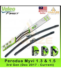 Valeo First Flat Wiper blade for Perodua Myvi 3rd Gen (Dec 2017-Current) (2pcs/set)