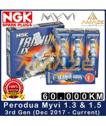 NGK Iridium IX Spark Plug for Perodua Myvi 1.3 & 1.5 3rd Gen (Dec 2017 - Current) - 60,000KM Iridium Spark Plug