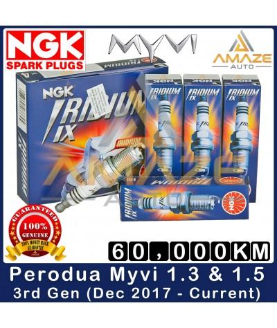 NGK Iridium IX Spark Plug for Perodua Myvi 1.3 & 1.5 3rd Gen (Dec 2017 - Current) - 60,000KM Iridium Spark Plug