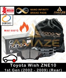 Compact Nano Infinity Brake Pad for Toyota Wish ZNE10 1st gen (2002-2009) (Rear)