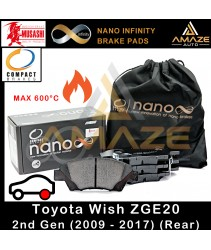 Compact Nano Infinity Brake Pad for Toyota Wish ZGE20 2nd Gen (2009-2017) (Rear)