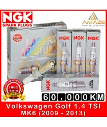 NGK Laser Iridium Spark Plug for Volkswagen Golf 1.4 TSI MK6 (2009-2013) - 60,000KM usage life