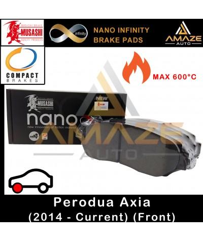 Musashi Nano Infinity Brake Pad for Perodua Axia 2014 - Current (Front)